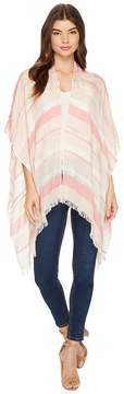 Echo Pacific Stripe Ruana Poncho Women's Clothing