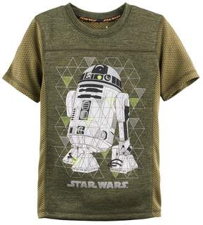 Disney Boys 4-7x Star Wars a Collection for Kohl's R2D2 Mesh Sporty Graphic Tee
