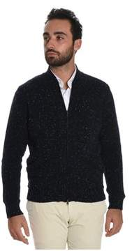 H953 Men's Blue Wool Cardigan.