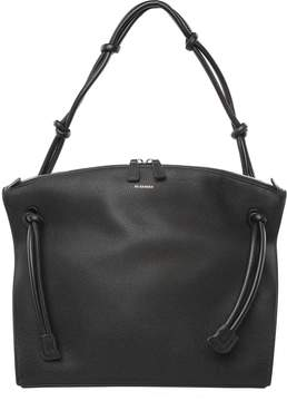 Jil Sander Hill Md Grained-leather Tote Bag