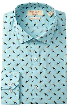 Original Penguin Toucan Print Heritage Slim Fit Dress Shirt