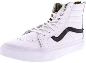 Vans SK8 Hi Slim Zip Shoes, True White/Black, 7.5
