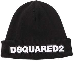 DSQUARED2 Wool Beanie Hat W/ Logo
