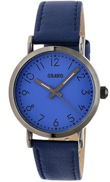 Crayo Pride CRACR3805 Black and Navy Leather Analog Watch