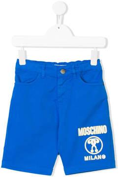 Moschino Kids logo print shorts