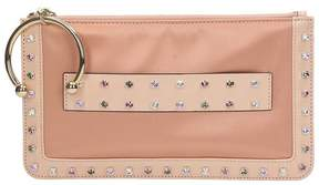 RED Valentino Pink Satin Clutch Bag