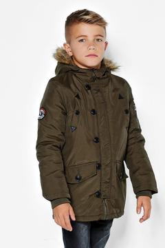 boohoo Boys Fully Padded Faux Fur Hooded Jacket