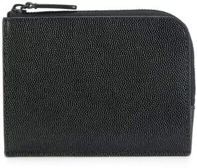 Common Projects logo embossed zipped wallet