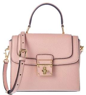 Dolce & Gabbana Greta Small Leather Satchel. - PINK - STYLE