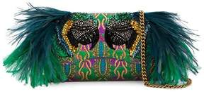 Gucci Small Broadway Evening Bag with Feather Embellishment - MULTICOLOUR - STYLE