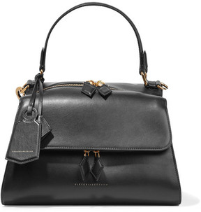 Victoria Beckham - Full Moon Small Leather Tote - Black