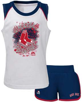 Majestic Toddler Boston Red Sox Doodle Time Tee & Shorts Set