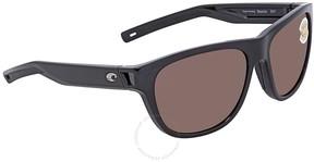 Costa del Mar Bayside Copper Silver Mirror Rectangular Sunglasses