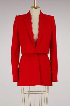 Alexander McQueen Lace-detail jacket