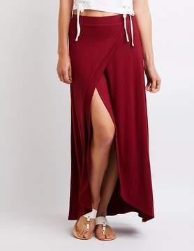 Charlotte Russe Wrap Maxi Skirt