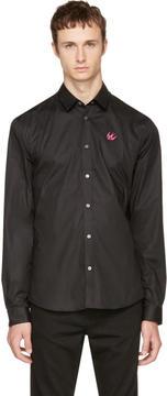 McQ Black Harness Swallow Shirt