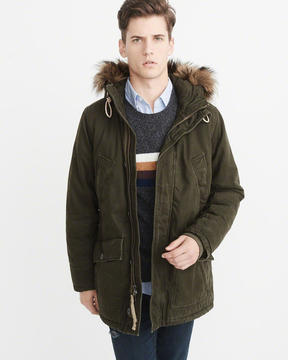 Abercrombie & Fitch B-9 Sherpa-Lined Parka