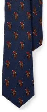 Polo Ralph Lauren Player-Print Silk Tie Navy One Size