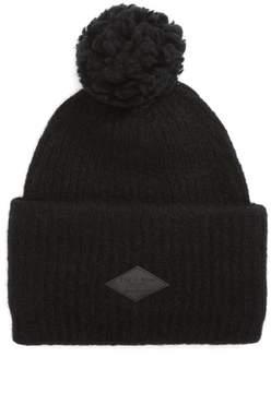 Rag & Bone Women's Francie Boucle Knit Pom Beanie - Black
