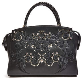 GUESS Alessia Embroidered Satchel
