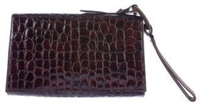 Escada Embossed Leather Clutch