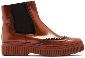 Tod's Chunky-sole smooth-leather chelsea boots