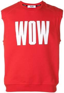 MSGM Wow print sleeveless sweatshirt