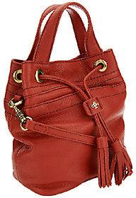 As Is orYANY Italian Grain Leather Crossbody - Jeanne