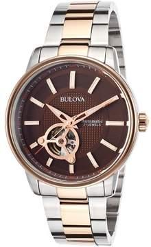 Bulova Men's Automatic Two-Tone Stainless Steel Bracelet Watch 45mm 98A140