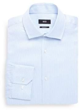 HUGO BOSS Broken Line Print Dress Shirt