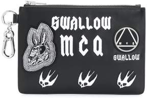 McQ applique clutch bag