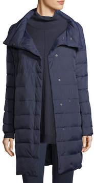 Eileen Fisher Weather-Resistant Down Puffer Cocoon Coat