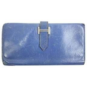 Hermes Blue Wallet Béarn - BLUE - STYLE