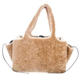 Celine 2017 Medium Shearling Trifold Tote w/ Tags