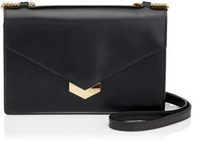 Jimmy Choo LEILA Black Spazzolato Leather Mini Cross Body Bag