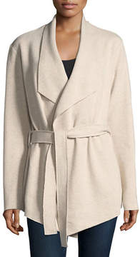 Neiman Marcus Majestic Paris for Wool-Cashmere Drape Cardigan
