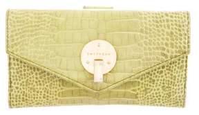 Smythson Alligator Envelope Wallet