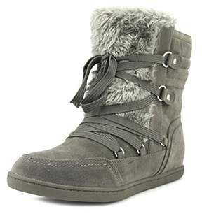 G by Guess Ryla Women Round Toe Canvas Gray Winter Boot.