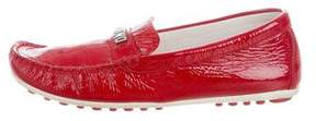 Moschino Patent Leather Logo Loafers