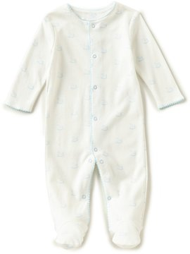 Starting Out Baby Boys Preemie-6 Months Rockinghorse-Print Footed Coveralls