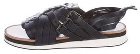 Bottega Veneta Intrecciato-Trimmed Sandals