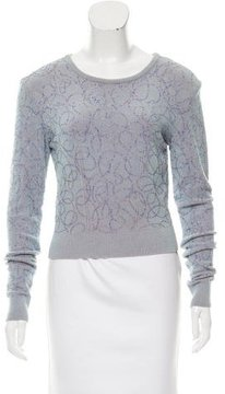 Alaia Beaded Cropped Sweater
