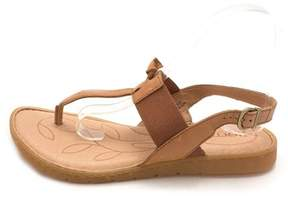 b.ø.c. Womens Siri Leather Open Toe Casual Slingback Sandals.