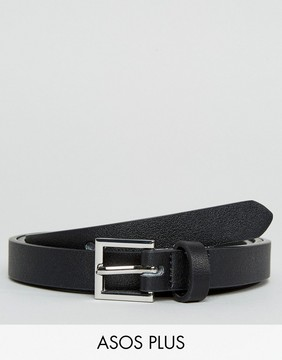 Asos PLUS Smart Faux Leather Super Skinny Belt In Black