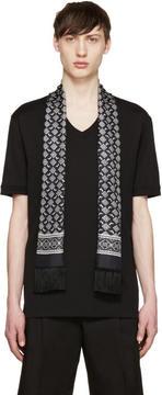 Dolce & Gabbana Black Bird Scarf T-Shirt