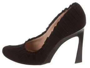 Nina Ricci Pleated Suede Pumps