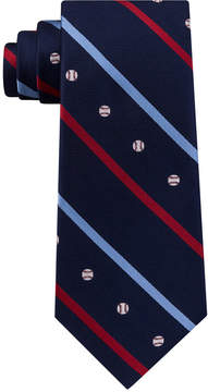 Club Room Men's Baseball Silk Tie, Created for Macy's