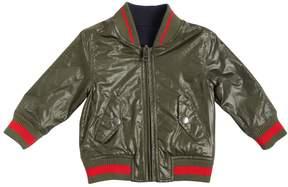 Diesel Reversible Nylon & Jersey Bomber Jacket