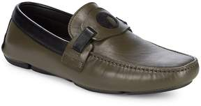 Versace Men's Moc Toe Leather Loafers