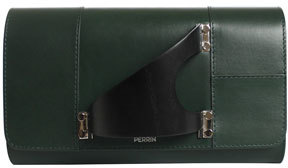 Perrin Paris Leiffel Leather Clutch Bag